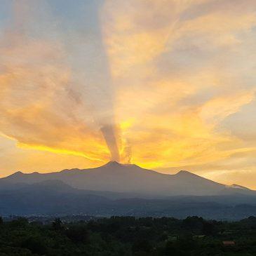 Ascending Mount Etna. Sicily. Italy